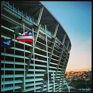 Estádio chama a atenção na paisagem