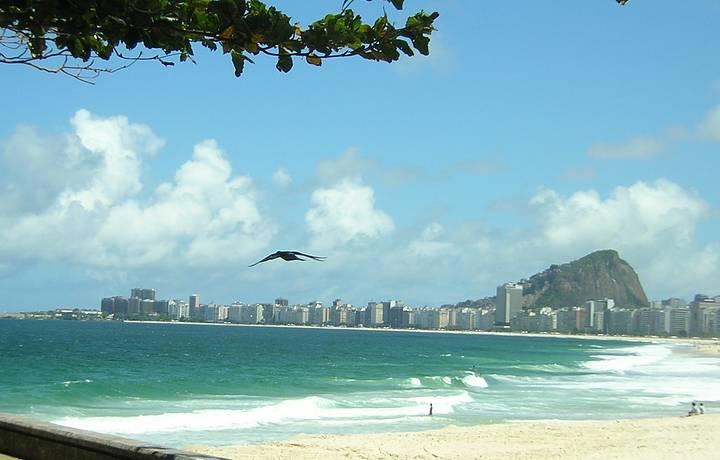 Um lindo pedaço da orla carioca