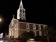 Igreja Matriz com decoração de Natal