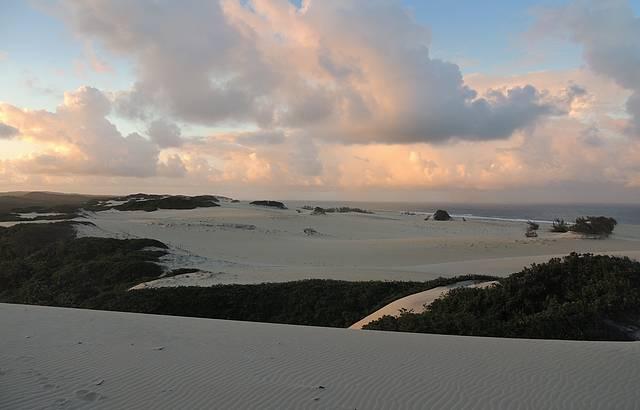 Pôr do sol de cima das dunas