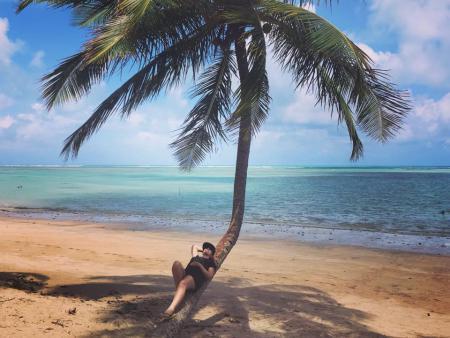 Praia mais linda que conheci lá