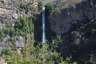 Cachoeira do Itiquira do alto da trilha