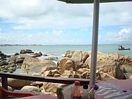 Vista da minha mesa do bar do Artur