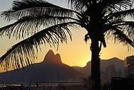 Praia de Ipanema ao entardecer...