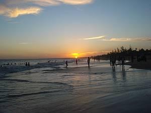 Fim de tarde: Pôr do sol encerra os trabalhos -