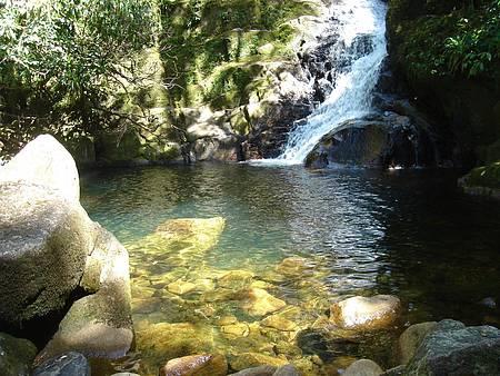Cachoeira do Mandira - Para refrescar, piscina natural da cachoeuira do Mandira