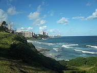 Vista do Mar de Salvador, a partir do Cristo da Barra