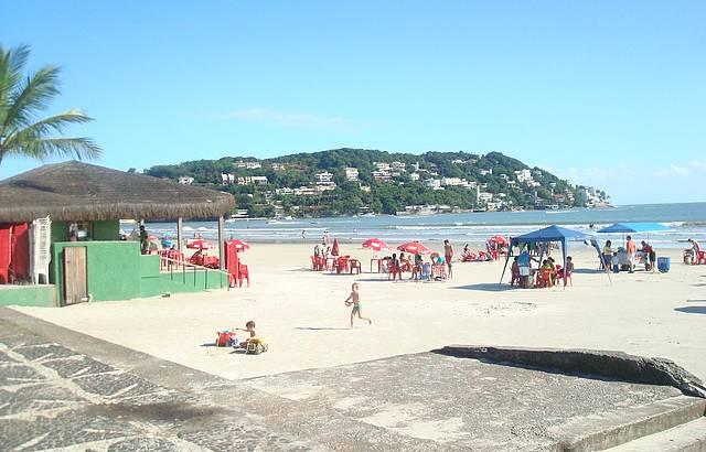 Praia no final da tarde