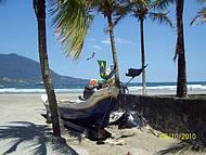 Uma das praias próximas ao Centro de São Sebastião