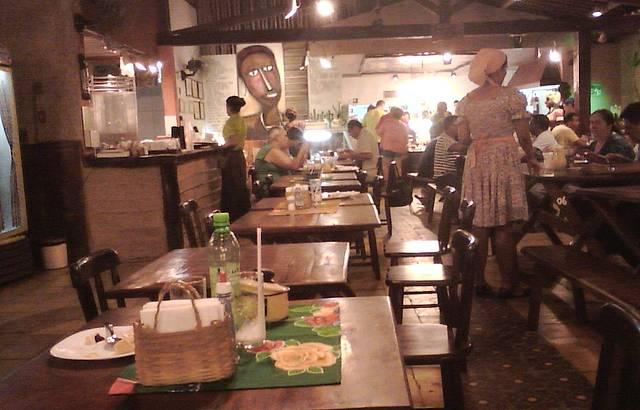 O restaurante por dentro