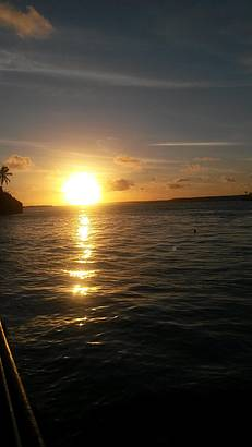 Pôr do sol maravilhoso