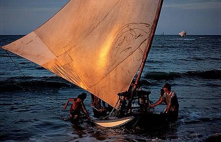 Taíba - Jangadas de pescadores confirmam o bucolismo local