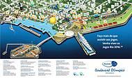 Mapa apresenta pontos dos palcos e atrações