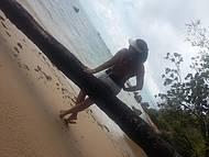 Caminhada de Morro até a praia da Gamboa