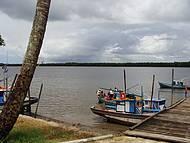 Barcos de pescadores ancorados