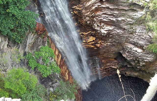 Cachoeira vista de cima. Incrível!