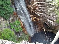 Cachoeira vista de cima. Incr�vel!
