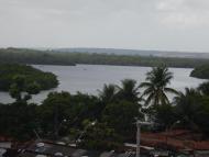 Vista do Hotel Globo para o Rio Sanhauá - Pôr do sol lindo aqui