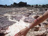 Cores extraídas das falésias - pintura natural