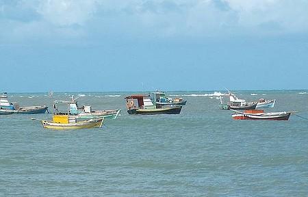 Mar da Baia da Traição - Tarde de Sol na Praia.