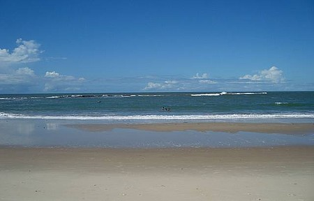 Enseada da Praia - Praia na Maré Baixa