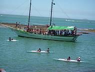 Um belo passeio de barco.