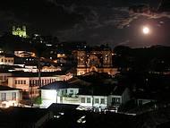 Noite de lua cheia em Ouro preto