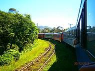 Vista do trem indo para Morretes