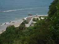 Vista desde el morro a Fortaleza e o mar