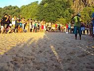Visitantes e moradores se reúnem no espetáculo no Boldró