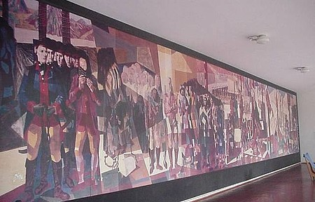 Mural Tiradentes - Réplica do Mural de Tiradentes. Portinari.