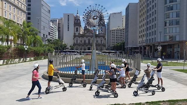 Esplanada da Candelária faz parte do roteiro de Trikke Tour