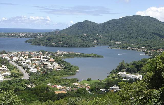 Vista panorâmica do mirante da Lagoa da Conceição