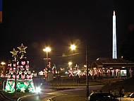Vista geral do Natal Encantado em Rio Negrinho, SC