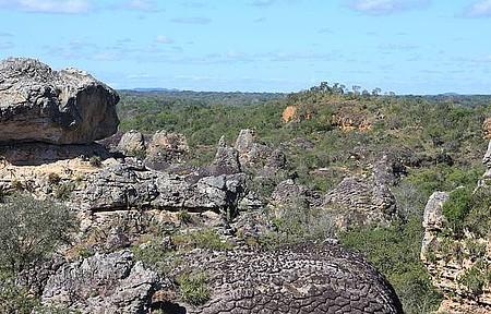Sete Cidades - Cerrado e caatinga dividem a paisagem