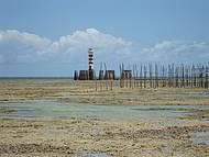 Maré baixa na praia de Ponta Verde