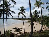 Praia de Tassimirim est� quase sempre deserta