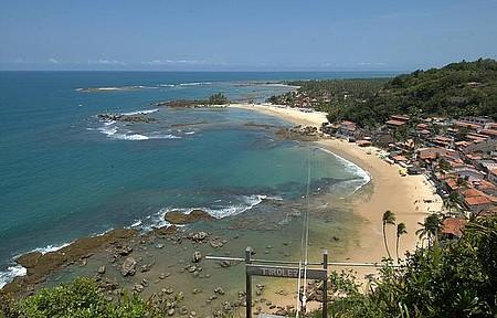 Morro de São Paulo - Tirolesa descortina belo visual das praias