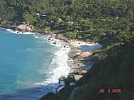 Um lindo visual ao sul da Ilha de Santa Catarina