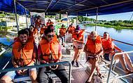 Muitas atrações nos passeios de barco