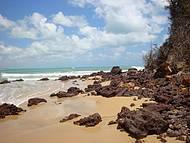 Vista da lateral direita da praia