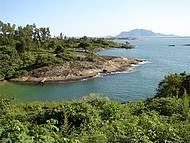 Praia da Costa (parte de tr�s do Morro do Moreno com vista para Vit�ria