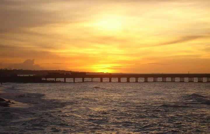 Pôr do Sol perfeito visto da ponte dos Ingleses!