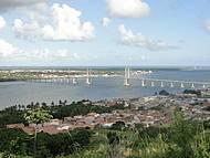 Vista da Ponte Aracaju-Barra, a partir do Morro do Urubu