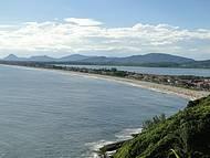 Paisagem da praia e lagoa de Ponta Negra