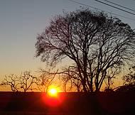 Pôr do sol na Colônia, em Guarapuava