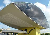 Fachada do Museu Oscar Niemeyer em Curitiba