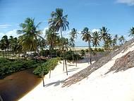 Puna� � um dos lugares mais lindos de Natal, um riacho entre dunas e coqueiros.