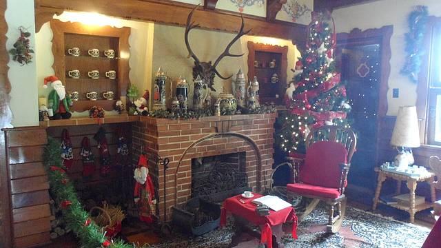 Sala da casa do Papai Noel