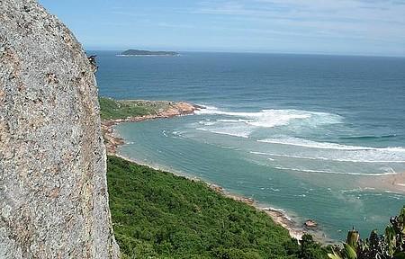 Subir a pedra do Urubu - Vista espetacular das belas praias